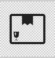 closed box icon shipping pack flat on isolated vector image