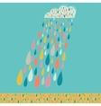 cloud and colored drops weather backdrop autumn vector image