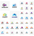 collection of car logo design template point vector image vector image