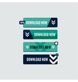 Colorful download web button Modern flat design vector image vector image