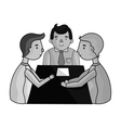 Conference icon in monochrome style isolated on vector image vector image