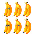 couple banana in different emotions vector image vector image