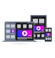 cross platform software programming icon vector image vector image