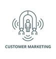 customer marketing line icon linear vector image vector image