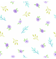 Cute small flowers vector image