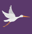 cute stork vector image