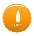 cypress tree icon orange vector image