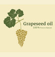 design a label with a bunch grapes vector image