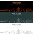 detroit event banner hand drawn skyline vector image vector image