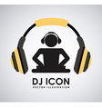 dj icon design vector image vector image