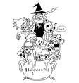 Doodle art Halloween vector image vector image