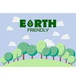 Earth friendly poster vector image vector image
