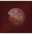 Exclusive glass label vector image