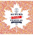 Fall Festival card banner poster Background Maple vector image vector image