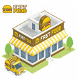 Fast Food building vector image vector image