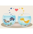 Fishes couple in love vector image vector image