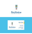 flat networks setting logo and visiting card vector image vector image