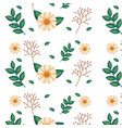 floral decoration pattern background vector image vector image