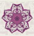 flower mandala detailed vector image vector image