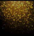 gold mosaic square with round corners vector image vector image