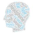 Headphone Essentials text background wordcloud vector image vector image