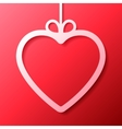 Heart Shaped Frame vector image vector image