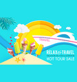 hot vacation design template summer travel enjoy vector image vector image