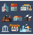 Industrial education and transportation buildings vector image vector image