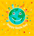 international smile day concept background flat vector image vector image
