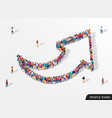 large group people in shape an arrow vector image vector image