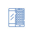 mobile applications line icon concept mobile vector image vector image