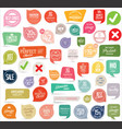 modern badges and stickers collection 2 vector image vector image