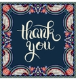 modern calligraphy thank you handwritten lettering vector image vector image