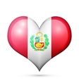 Peru Heart flag icon vector image