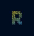 r circuit digital letter logo icon design vector image vector image