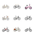realistic working hybrid velocipede extreme vector image vector image