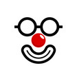red nose vector image