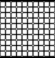 repeating abstract black and white grid pattern vector image vector image
