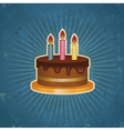 Retro Birthday Cake vector image