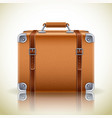retro suitcase icon vector image
