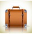 retro suitcase icon vector image vector image