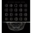 Royal circle design elements vector image
