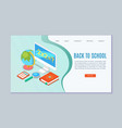 school and college online education website vector image vector image