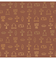 Seamless background with American Indians relics vector image vector image