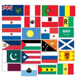 set 24 flags countries started with p q r s vector image