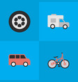 Set of simple shipping icons