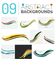 Set of wave abstract backgrounds vector image vector image