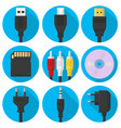 set plug usb and more gadgets vector image vector image