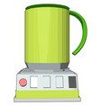 simple an yellow blender white background vector image vector image