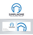 simple home logo design vector image vector image